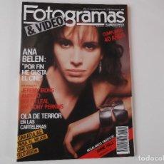 Cine: FOTOGRAMAS Nº 1724 NOV 1986. ANA BELEN, JEREMY IRONS, AMPARO S. LEAL, ANTHONY PERKINS, SID Y NANCY. Lote 152324962