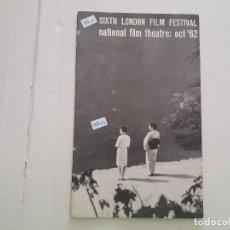 Cine: SITXTH LONDON FILM FESTIVAL . Lote 152398806