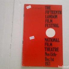 Cine: THE FIFTENNTH FILM LONDON FESTIVAL . Lote 152401962