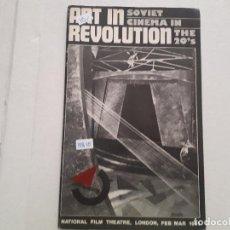Cine: ART IN REVOLUTION - SOVIET CINEMA IN THE 20'S. Lote 152402302