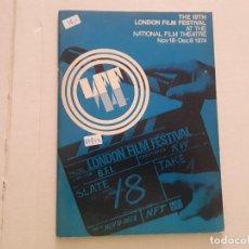Cine: THE 18TH LONDON FILM FESTIVAL . Lote 152402570