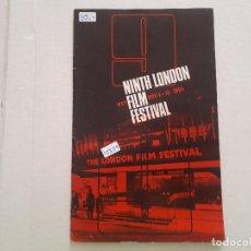 Cine: NINTH LONDON FILM FESTIVAL . Lote 152403266