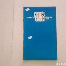 Cine: CRITIC'S CHOICE . Lote 152404930
