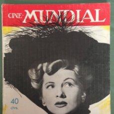 Cine: JOAN FONTAINE EN LA PORTADA CINE MUNDIAL. SEPTIEMBRE 1947. Lote 152426250