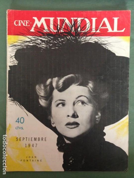 Cine: JOAN FONTAINE EN LA PORTADA CINE MUNDIAL. SEPTIEMBRE 1947 - Foto 2 - 152426250