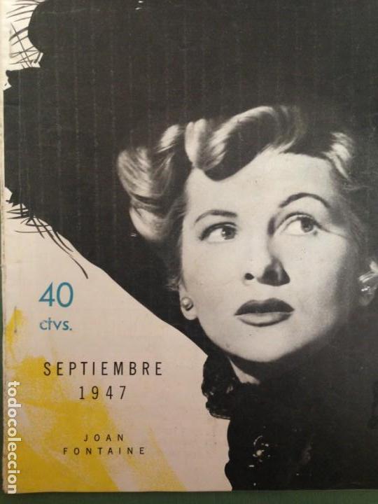 Cine: JOAN FONTAINE EN LA PORTADA CINE MUNDIAL. SEPTIEMBRE 1947 - Foto 3 - 152426250