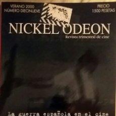 Cine: NICKEL ODEÓN 19. LA GUERRA ESPAÑOLA EN EL CINE. VERANO 2000.. Lote 152691717