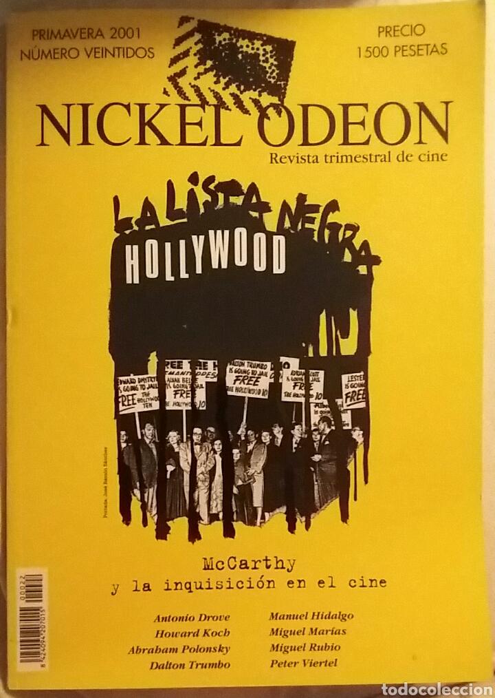 NICKEL ODEON N°22. MCCARTHY Y LA INQUISICIÓN EN EL CINE. PRIMAVERA 2001. (Cine - Revistas - Nickel Odeon)