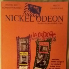 Cine: NICKEL ODEON 23. LA CRÍTICA, UN OFICIO DEL SIGLO XX. VERANO 2001.. Lote 152693690
