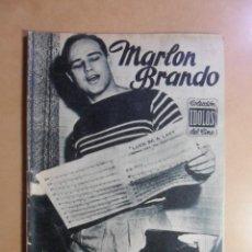 Cine: Nº 7 - COLECCION IDOLOS DEL CINE - MARLON BRANDO - 1958. Lote 152740006