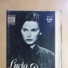 Cine: Nº 15 - COLECCION IDOLOS DEL CINE - LUCIA BOSE - 1958. Lote 152740454