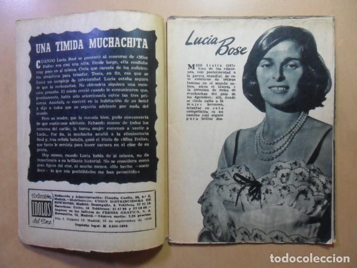 Cine: Nº 15 - COLECCION IDOLOS DEL CINE - LUCIA BOSE - 1958 - Foto 2 - 152740454