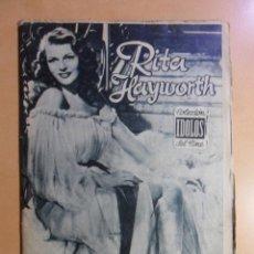 Cine: Nº 26 - COLECCION IDOLOS DEL CINE - RITA HAYWORTH - 1958. Lote 152740902