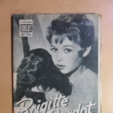 Cine: Nº 34 - COLECCION IDOLOS DEL CINE - BRIGITE BARDOT - 1959. Lote 152741946