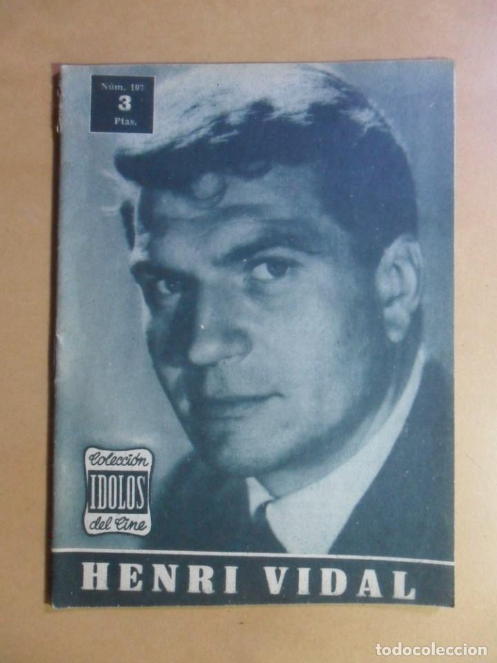 Nº 107 - COLECCION IDOLOS DEL CINE - HENRI VIDAL - 1960 (Cine - Revistas - Colección ídolos del cine)