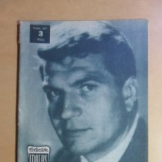 Cine: Nº 107 - COLECCION IDOLOS DEL CINE - HENRI VIDAL - 1960. Lote 152742570