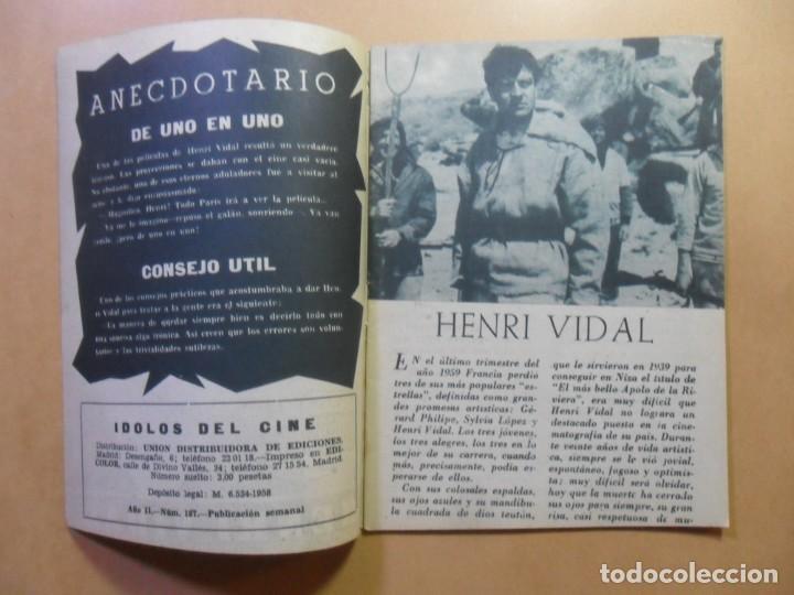 Cine: Nº 107 - COLECCION IDOLOS DEL CINE - HENRI VIDAL - 1960 - Foto 2 - 152742570