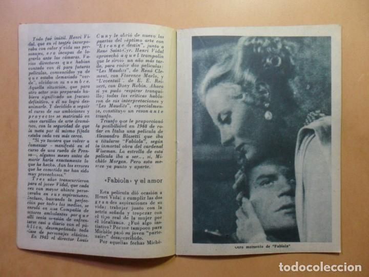Cine: Nº 107 - COLECCION IDOLOS DEL CINE - HENRI VIDAL - 1960 - Foto 5 - 152742570