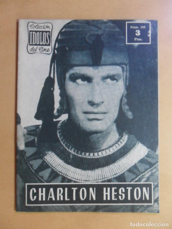 Nº 109 - COLECCION IDOLOS DEL CINE - CHARLTON HESTON - 1960 (Cine - Revistas - Colección ídolos del cine)