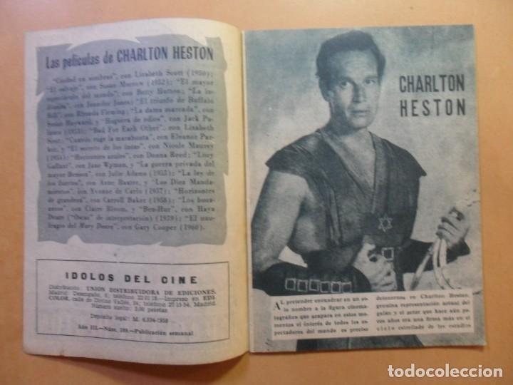 Cine: Nº 109 - COLECCION IDOLOS DEL CINE - CHARLTON HESTON - 1960 - Foto 2 - 152757402