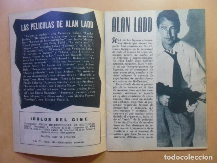 Cine: Nº 112 - COLECCION IDOLOS DEL CINE - ALAN LADD - 1960 - Foto 2 - 152757954
