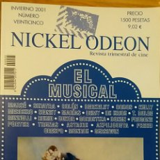 Cine: NICKEL ODEON Nº 25. EL MUSICAL. INVIERNO 2001.. Lote 152827322