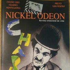 Cine: NICKEL ODEON Nº 24. CHAPLIN. OTOÑO 2001.. Lote 152827606