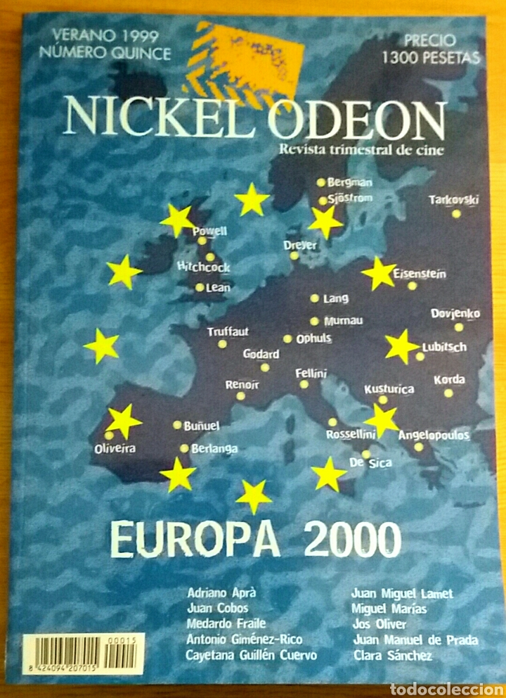 NICKEL ODEON Nº 15. EUROPA 2000. VERANO 1999. (Cine - Revistas - Nickel Odeon)