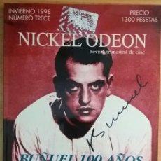 Cine: NICKEL ODEON Nº 13. BUÑUEL 100 AÑOS. INVIERNO 1998.. Lote 152956932