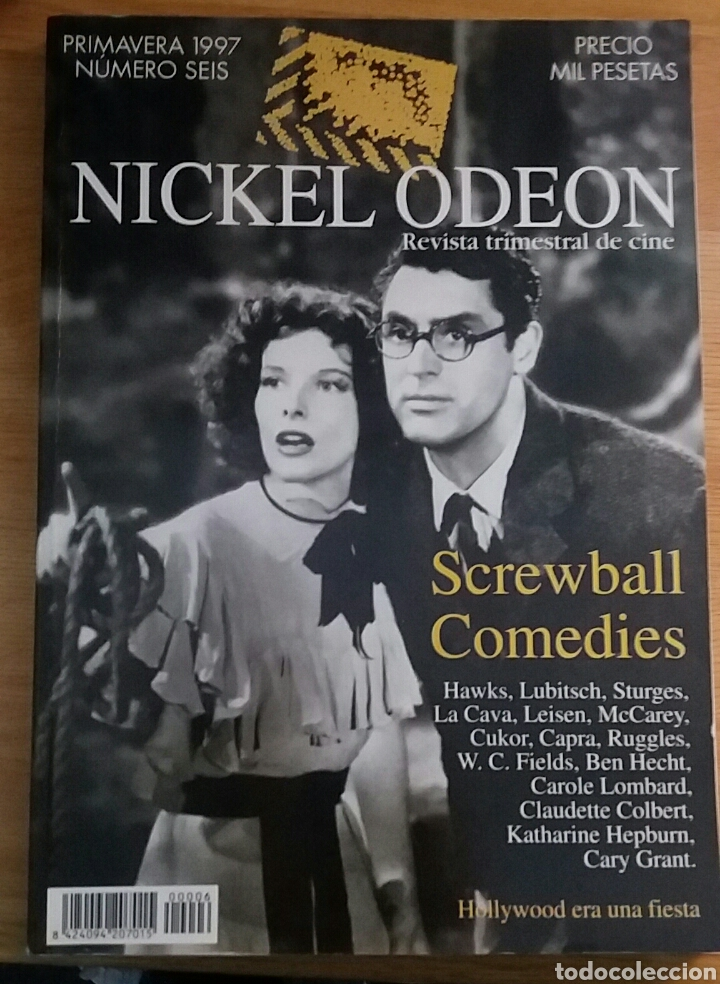 NICKEL ODEON Nº 6. SCREWBALL COMEDIES. PRIMAVERA 1997. (Cine - Revistas - Nickel Odeon)