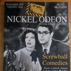 Cine: NICKEL ODEON Nº 6. SCREWBALL COMEDIES. PRIMAVERA 1997.. Lote 152959440