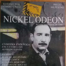 Cine: NICKEL ODEON Nº 5. COMEDIA ESPAÑOLA. ENCUENTRO CON ALFREDO LANDA. INNVIERNO 1996.. Lote 152959746