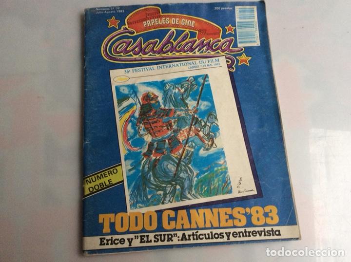 CASABLANCA Nº 31/32 - 1983 PAPELES DE CINE, CANNES, PETER WEIR, NAGISA OSHIMA, EL SUR, VICTOR ERICE (Cine - Revistas - Otros)