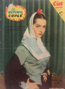 1958 El ultimo cuplé. Cine Ensueño. Fascículo Nº4. 17,1x23,9 cm