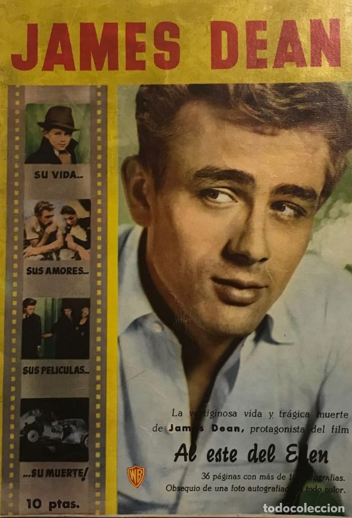 1958 JAMES DEAN. REVISTA MONOGRÁFICA. SU VIDA, SUS AMORES, SUS PELÍCULAS, SU MUERTE. 32 PÁGINAS (Cine - Revistas - Cinecolor)