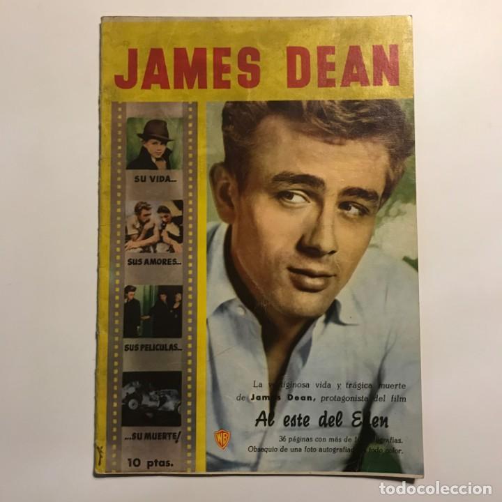 Cine: 1958 James Dean. Revista monográfica. Su vida, sus amores, sus películas, su muerte. 32 páginas - Foto 2 - 149280410