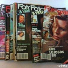 Cine: FOTOGRAMAS - 10 EJEMPLARES - AÑOS 1984/90. Lote 153804270