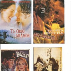Cine: 4 FOLLETOS CINE TAMAÑO 10X13 APROX INFORMACION DETRAS DE LA PELICULA PROCEDENTES DE REVISTAS LOTE 5. Lote 154180334