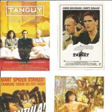 Cine: 4 FOLLETOS CINE TAMAÑO 10X13 APROX INFORMACION DETRAS DE LA PELICULA PROCEDENTES DE REVISTAS LOTE 8. Lote 154180574