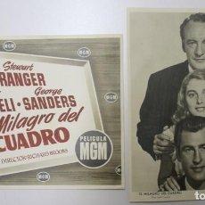 Cine: 13 AFICHES DE PAPEL. EL MILAGRO DEL CUADRO 1951. Lote 154270298