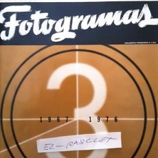 Cine: REVISTA SUPLEMENTO FOTOGRAMAS Nº 3 - AÑO 1967 - 1976 - LIBRO DE ORO 50 AÑOS DE CINE -. Lote 154461206