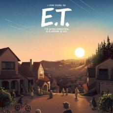 Cine: E.T. EL EXTRATERRESTRE LITOGRAFIA DE IMPRENTA. Lote 155436385