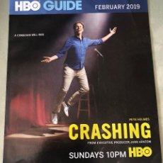 Cine: FLYER PUBLICITARIO SOBRE LA SERIE DE TELEVISIÓN 'CRASHING'. EN IDIOMA INGLÉS.. Lote 154755898