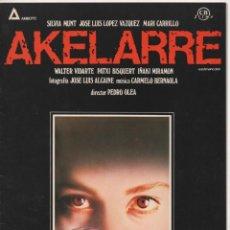 Cine: CARPETA PELÍCULA AKELARRE PRODUCTORA AMBOTO - CB FILMS - CON FOTOS Y 4 FICHAS DE LA PELÍCULA 1984. Lote 154846654