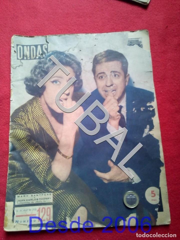 TUBAL MARY SANTPERE REVISTA ONDAS 129 1958 (Cine - Revistas - Ondas)