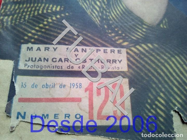 Cine: TUBAL MARY SANTPERE REVISTA ONDAS 129 1958 - Foto 2 - 154873642