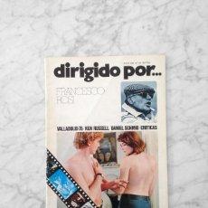 Cine: DIRIGIDO POR - 1975 - FRANCESCO ROSI, DANIEL SCHMID, VALLADOLID 75, FILM CATASTROFE, KEN RUSSELL. Lote 155382270