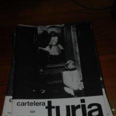 Cine: CARTELERA TURIA 305 NOVIEMBRE 1969. Lote 155710930