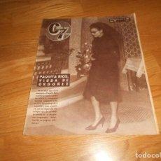 Cine: ANTIGUA REVISTA CINE EN 7 DIAS Nº 199 30 ENERO 1965 PAQUITA RICO VIUDA DE ORDOÑEZ. Lote 155822550