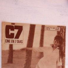 Cine: CINE EN SIETE DÍAS Nº 281 - 1966 - CLAUDIA CARDINALE, SOFIA LOREN, GREGORY PECK, ROBERT STACK. Lote 156274822